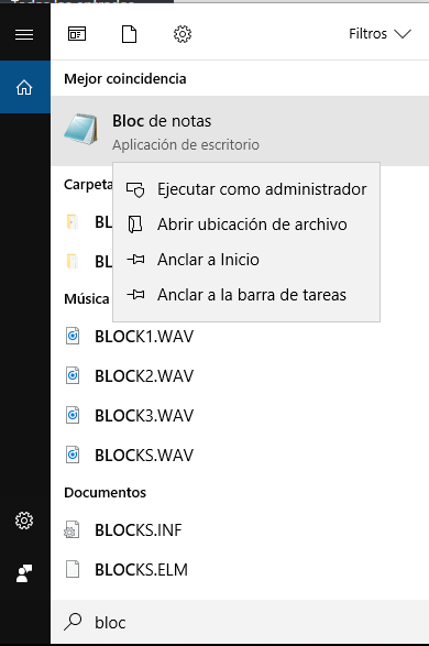 Abrir el editor como administrador del sistema durante un traslado de de servidor